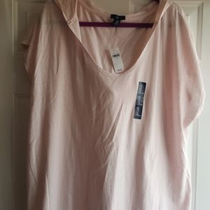 Light Pink Shirt With Hoodie 2XL
